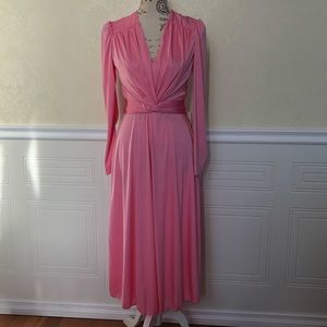 Vintage NWT DeadStock Pink Long Sleeve Dress